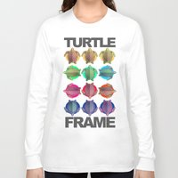 frame Long Sleeve T-shirts featuring Turtle Frame by Galvanise The Dog