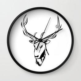 Ciervo negro Wall Clock
