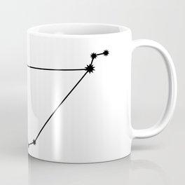 Capricorn Star Sign Black & White Coffee Mug
