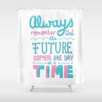 future Shower Curtains featuring Future by JessicaRooneyDeane