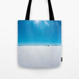 In the Distance, Salar de Uyuni, Bolivia Salt Flats Tote Bag
