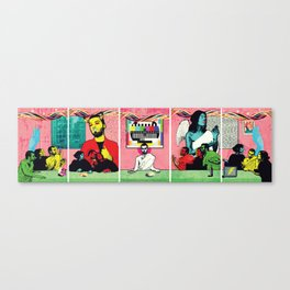 Man and Woman Reenact the Last Supper in an Age of Digital Ecstasy Canvas Print