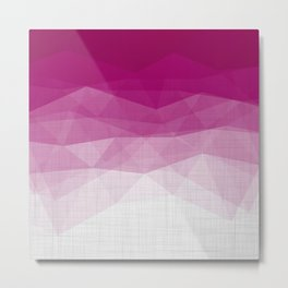 Imperial Ruby - Geometric Triangles Minimalism Metal Print