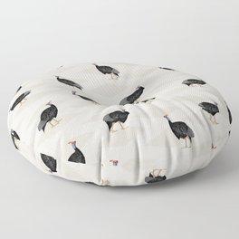 Guinea fowl bird pattern Floor Pillow