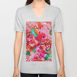 Be like Bougainvillea, blooming, lush, wild & unassuming #painting Unisex V-Neck