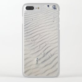 Tracks in the Sand Clear iPhone Case