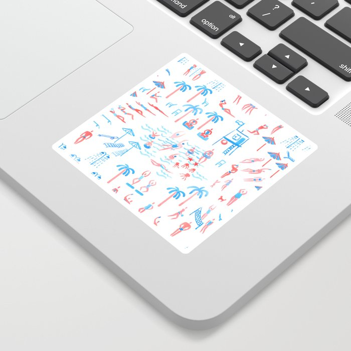 beach club pattern Sticker