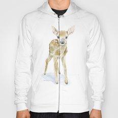 Deer Fawn 2 Watercolor Painting Hoody