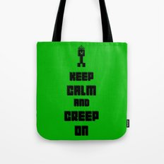 Keep Calm and Creep On Tote Bag