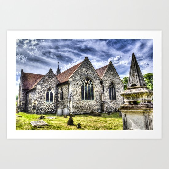 Orsett Church Essex England Art Print