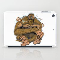 sasquatch iPad Cases featuring Sasquatch by Gregery Miller