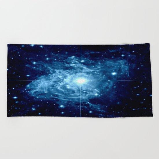 Turquoise Galaxy Star Beach Towel