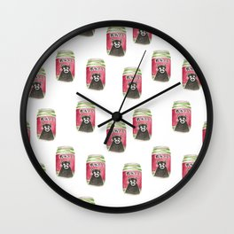 watercolor pattern food illustration Wall Clock