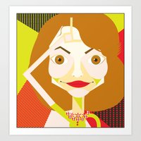 glee Art Prints featuring Jayma Mays (Glee) by Shawna Guy