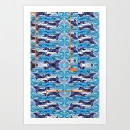 """Virtual wave action"" by Richard Schemmerer Art Print"