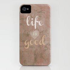 LIFE IS GOOD  Slim Case iPhone (4, 4s)