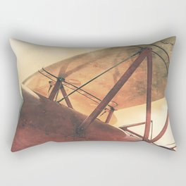 Take Flight // Antique Airplane Rectangular Pillow