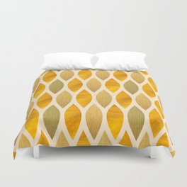 Golden Scales Duvet Cover