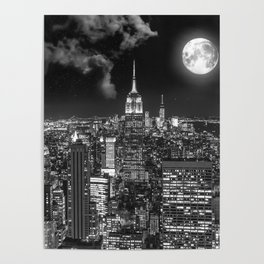 New York Under the Moon Poster