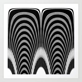 Black and White Geometric Arches Art Print