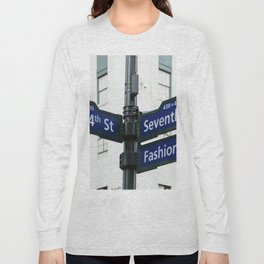 Road signs in Midtown of New York Long Sleeve T-shirt