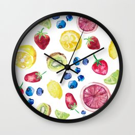 Assorted Fruit  Wall Clock