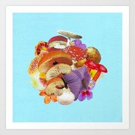 mushroom cluster Art Print