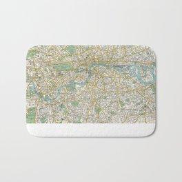 Vintage Map of London England (1900) Bath Mat