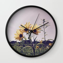 Sunlit Black-Eyed Susans Wall Clock