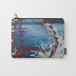 Emergence, abstract artwork, blue and white Carry-All Pouch