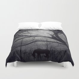 Where do unicorns go? Duvet Cover