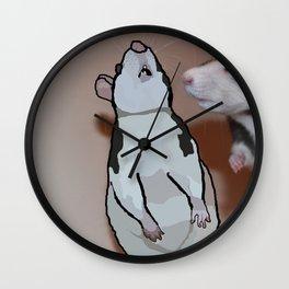 Painted rat Wall Clock