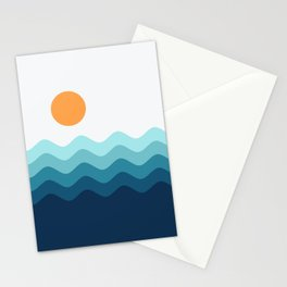 Abstract Landcape 14 Portrait Stationery Cards