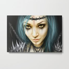 Unstoppable: A Vampiric Warrior Metal Print