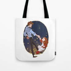 Little Amelia and her Raggedy man. Tote Bag