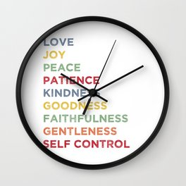 Fruits of the Spirit - Color Wall Clock