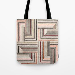 Square, colored lines, smear, geometric shapes, geometry Tote Bag