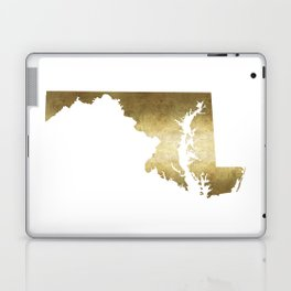 maryland gold foil state map Laptop & iPad Skin