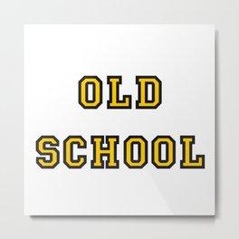 Old School Metal Print