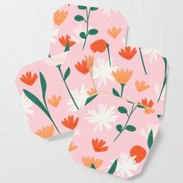 Summertime Floral Pattern Coaster