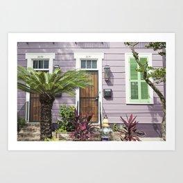 New Orleans Marigny Purple House Art Print