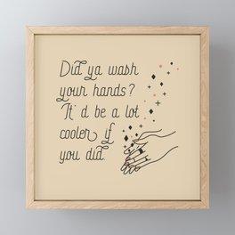 Wash Your Hands in Black & Mauve Framed Mini Art Print