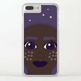 she is the stars Clear iPhone Case
