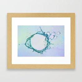 Water Splash 4 Framed Art Print