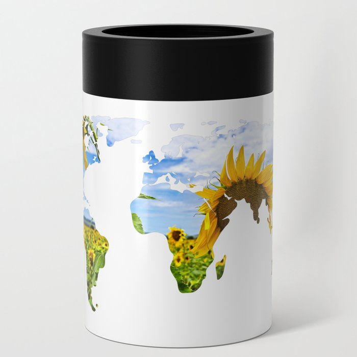 World of Sunflowers Can Cooler