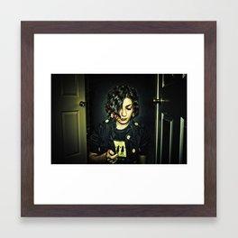 dark side of the sun Framed Art Print