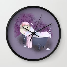 Bubble Bath Joy Wall Clock