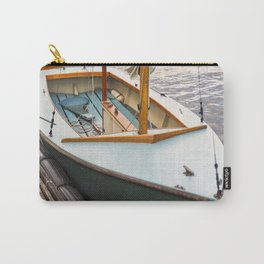 Wooden Boat Sailboat Sailing Sailor Nautical Lake Seattle Harbor Marina Recreation Outdoors Sunset Carry-All Pouch