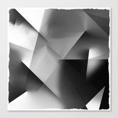 Monochromatic Cubism Canvas Print