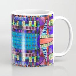 Tribal Patchwork II Blue Coffee Mug